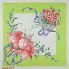 FLORAL BOUQUETS ORCHIDS LILY OF THE VALLEY AND VIOLETS NOSEGAY HANKY