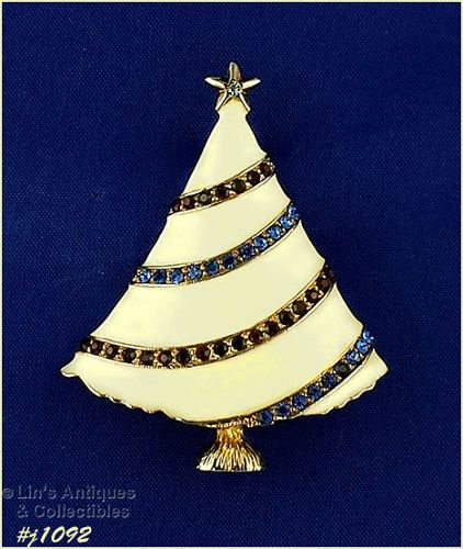 EISENBERG ICE PATRIOTIC COLORS CHRISTMAS TREE PIN