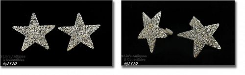 EISENBERG ICE RHINESTONE STAR SHAPE CLIP BACK EARRINGS