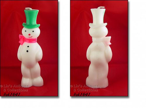 Gurley Tall Snowman with a Top Hat Vintage Christmas Candle
