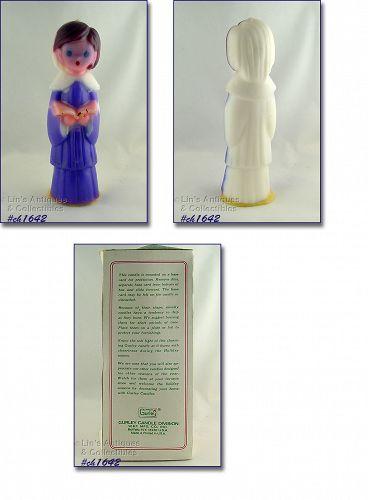 Gurley Tall Choir Girl Vintage Christmas Candle