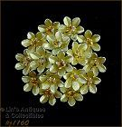 VINTAGE CORO GOLD TONE AND RHINESTONE FLOWER CLUSTER PIN