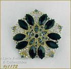 EISENBERG ICE PENTAGON SHAPED BROOCH COVERED WITH RHINESTONES