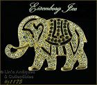 EISENBERG ICE RHINESTONE COVERED CIRCUS ELEPHANT BROOCH