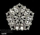 Vintage Eisenberg Ice Clear Rhinestones Brooch, Eisenberg Wedding Pin