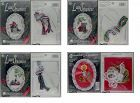 LOT OF 3 COUNTED CROSS STITCH LACE CHRISTMAS ORNAMENT KITS + 1 FREE