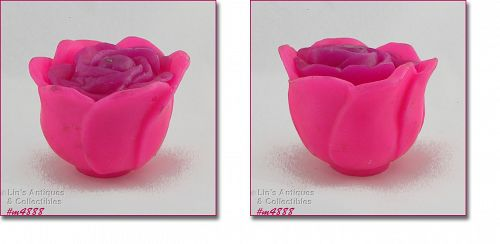 GURLEY ROSE SHAPED VINTAGE CANDLE