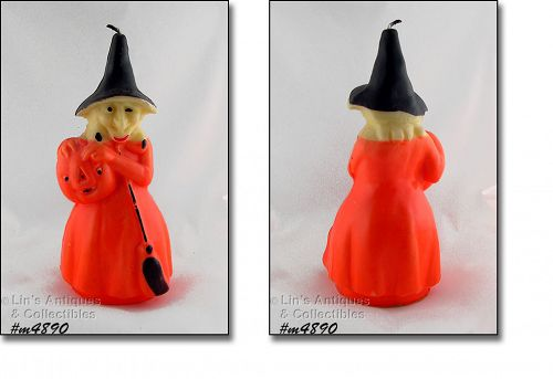 GURLEY LARGE HALLOWEEN WITCH VINTAGE CANDLE