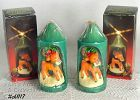 TWO VINTAGE CHRISTMAS CANDLES BY RAINBOW LITE