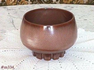 FRANKOMA POTTERY ROUND BROWN JARDINI�RE OR PLANTER
