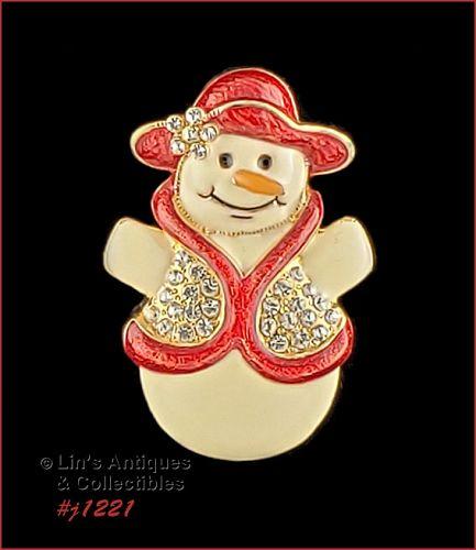 Signed Eisenberg Ice Snow Lady Brooch Pin