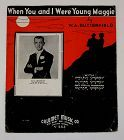 Vintage Sheet Music When You and I Were Young Maggie