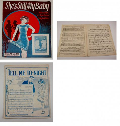 Vintage Sheet Music She�s Still My Baby