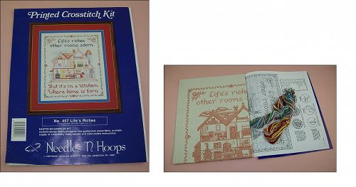 Life�s Riches Sampler Printed Cross Stitch Kit NOS