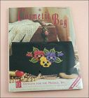 Pansies Counted Cross Stitch Cosmetic Bag Kit NOS