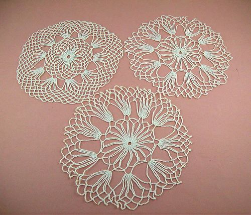 Three Vintage White Doilies