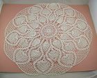 Vintage Crochet White Doily Large Table Top Size