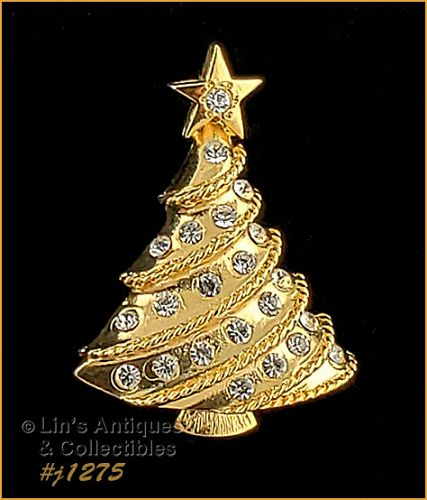 Signed Eisenberg Ice Small Christmas Tree Pin