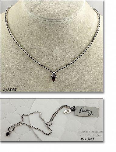 Eisenberg Ice Red Rhinestone Necklace