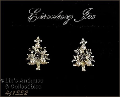 Eisenberg Ice Small Christmas Tree Earrings