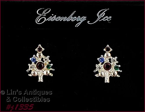 Eisenberg Ice Christmas Tree Earrings