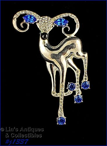 Signed Eisenberg Ice Large Reindeer Pin