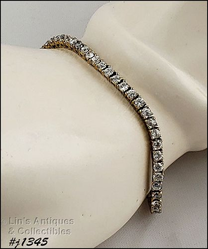 Silver Tennis Bracelet with Cubic Zirconium
