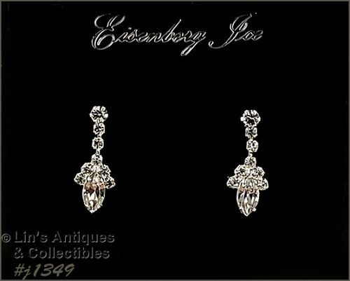Eisenberg Ice Clear Rhinestone Earrings