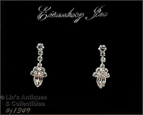 Eisenberg Ice Clear Rhinestone Earrings