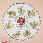 Vintage State Souvenir Round Hanky New York
