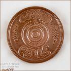 Frankoma Pottery Roll Warmer Tile Satin Brown