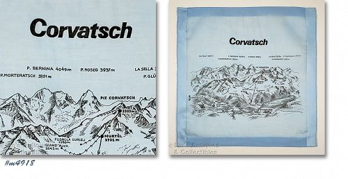 Vintage Souvenir Handkerchief Corvatsch