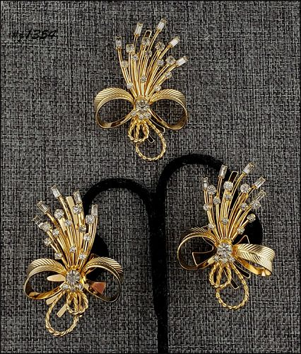Vintage Sarah Coventry Pin and Earrings