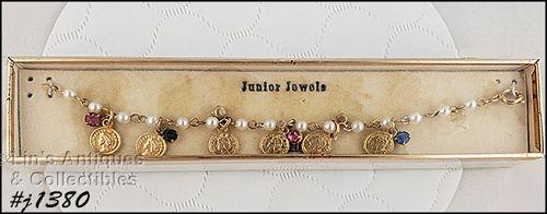 Vintage Junior Jewels Little Girls Bracelet in Original Box