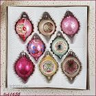 Vintage Poland Glass Christmas Ornaments