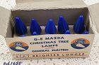 Vintage C6 Blue Christmas Bulbs in Box