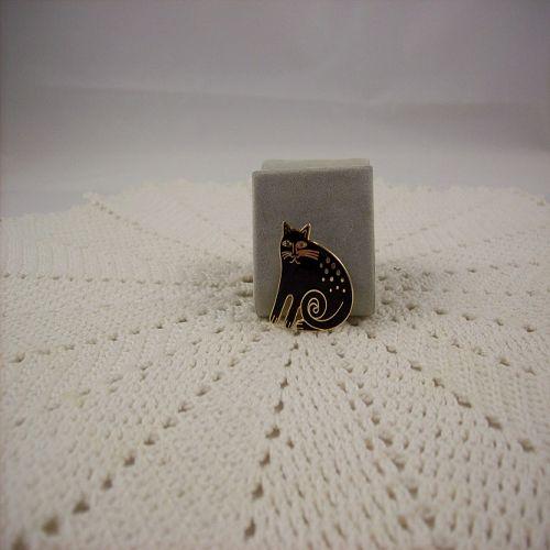Signed Laurel Burch Keshire Cat Vintage Pin