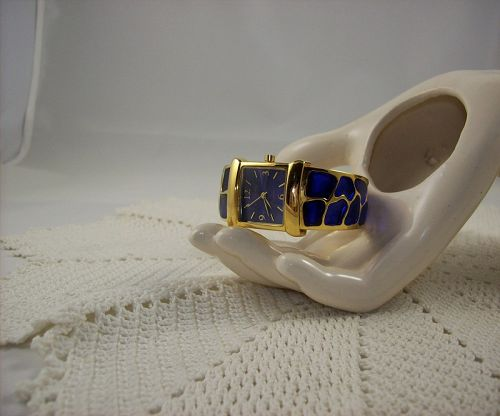 Joan Rivers Classic Collection Hinged Cuff Watch