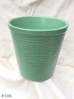 Vintage McCoy Pottery 8 Inch Jardiniere Pastel Green Mint Condition