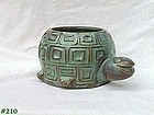 McCOY POTTERY -- HAPPY TURTLE GREEN THUMB LINE VINTAGE PLANTER