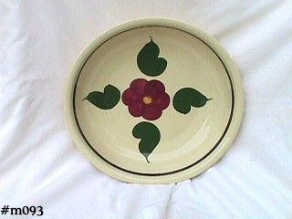 Watt Pottery Spaghetti Bowl Pansy with 4 Leaves Pattern