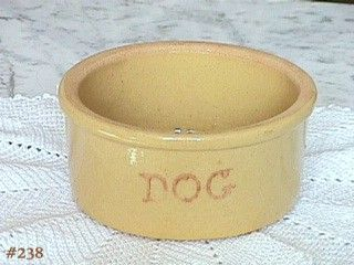 POTTERY -- DOG BOWL (R.R.P.C.O.)