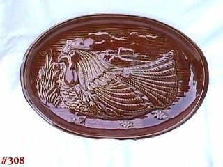 McCOY POTTERY -- SERVING PLATTER (CHICKEN DESIGN)