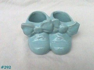 McCOY POTTERY BLUE TWIN SHOES PLANTER