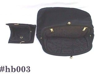 BLACK CLOTH EVENING BAG