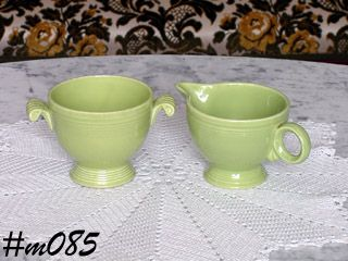 FIESTA VINTAGE CHARTREUSE CREAMER AND OPEN SUGAR