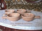 McCOY POTTERY SET OF 4 VINTAGE SOUP OR CHILI BOWLS MADE FOR HEINZ