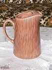 McCOY POTTERY VINTAGE WOOD GRAIN DESIGN PITCHER DIFFICULT TO FIND