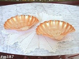 FIRE KING -- SHELL SHAPE CANDY OR DESSERT DISHES (2)