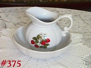 McCOY POTTERY STRAWBERRY COUNTRY VINTAGE PITCHER AND BOWL SET